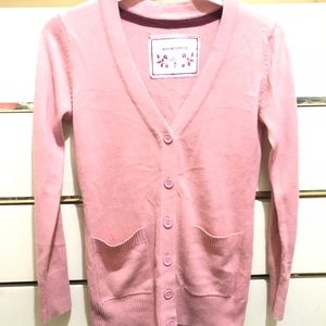 Pink button up cardigan size large (juniors)